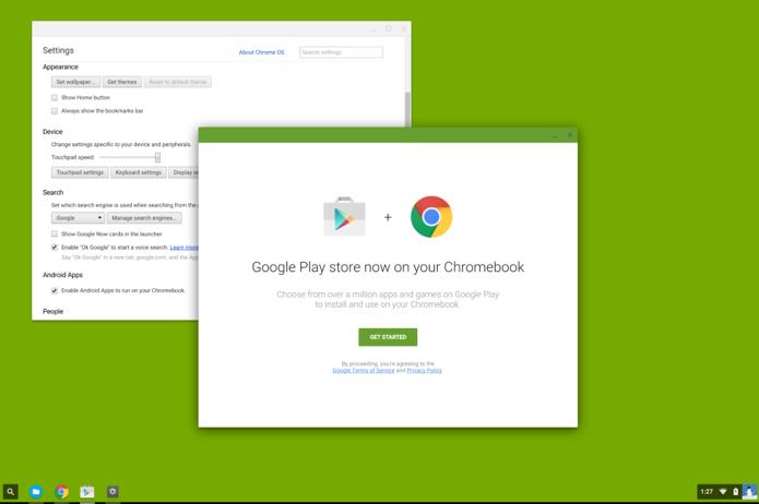 Chrome OS já traz opção para habilitar apps Android (Foto: Reprodução/Reddit)