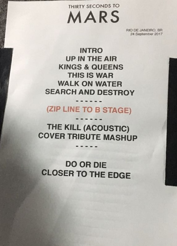 Thirty Seconds to Mars setlist (Foto: Multishow)