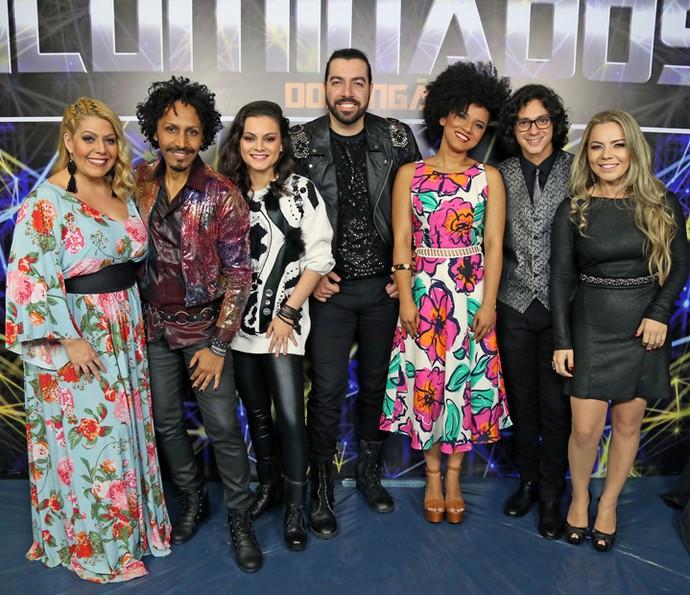 Todos os participantes da quinta noite do 'Iluminados' reunidos (Foto: Isabella Pinheiro/Gshow)