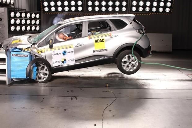 Renault Captur em crash test do Latin Ncap (Foto: Divulgação)