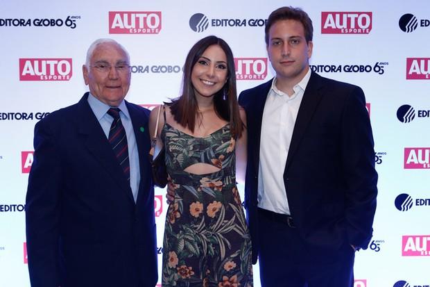 Toni Bianco, projetista homenageado no Hall da Fama e seus netos, Andre Bianco e Brano Bianco (Foto: Ricardo Cardoso)