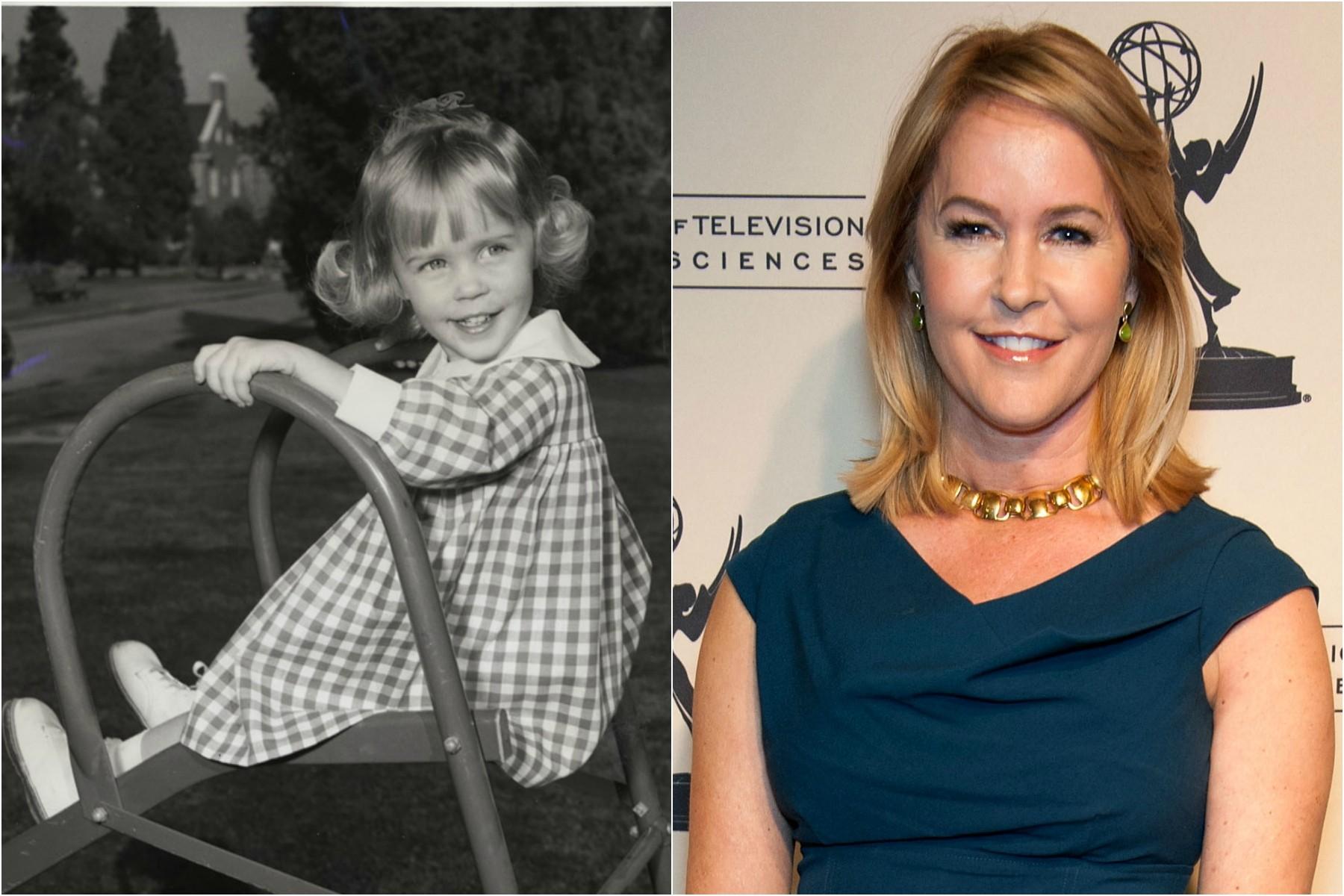 Erin Murphy como a filhinha de 'A Feiticeira' (1964-1972), e hoje, com meio século de vida. (Foto: Divulgação e Getty Images)