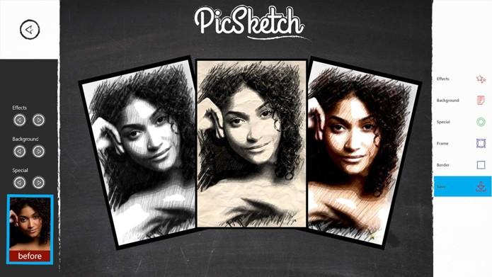 PicSketch transforma fotos em desenho (Foto: Reprodução/André Sugai)