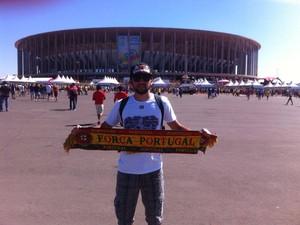 Lucas viu um gol de Ronaldo em Brasília (Foto: Lucas Mendes/ arquivo pessoal)