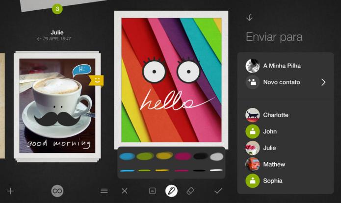 Transforme suas fotos em lindos cartões digitais e envie para os amigos (Foto: Divulgação/AppStore)
