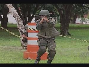 Simulação do 36º Bimtz em Uberlândia (Foto: Reprodução/TV Integração)