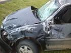 Motorista fica ferido ao capotar veículo (Divulgação)
