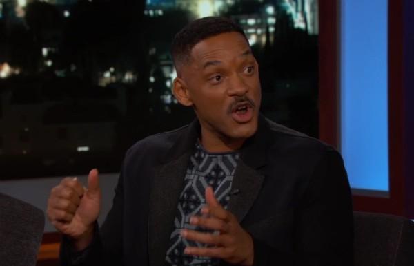 O ator Will Smith no programa de Jimmy Kimmel (Foto: Reprodução)