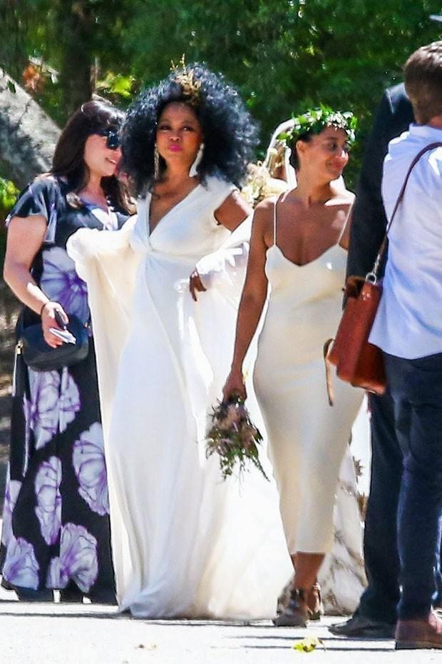 Diana Ross no casamento do filho (Foto: AKM/GSI)