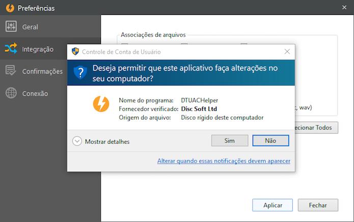 Permita que o aplicativo faça alterações no Windows (Foto: Reprodução/Helito Bijora)