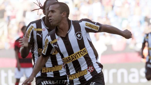Julio Cesar comemora gol na partida do Botafogo contra o Flamengo (Foto: Reginaldo Pimenta / Agência O Globo)