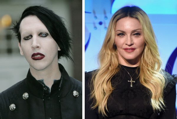 Marylin Manson e a cantora Madonna (Foto: Getty Images)