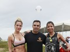 Giovanna Ewbank mostra barriga sequinha em treino na praia