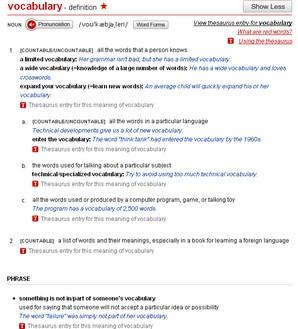 Dicionário inglês