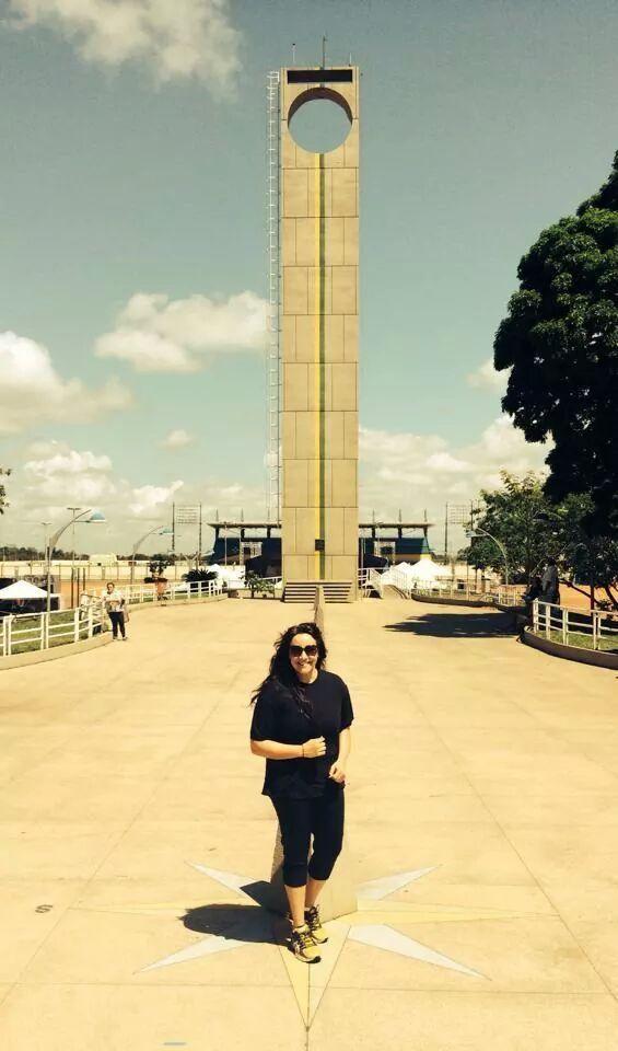 Ana Carolina no Marco Zero, em Macapá, em agosto de 2014 (Foto: Reprodução/Twitter)