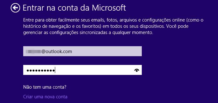 Faça login com sua conta Microsoft (Foto: Reprodução/Helito Bijora)