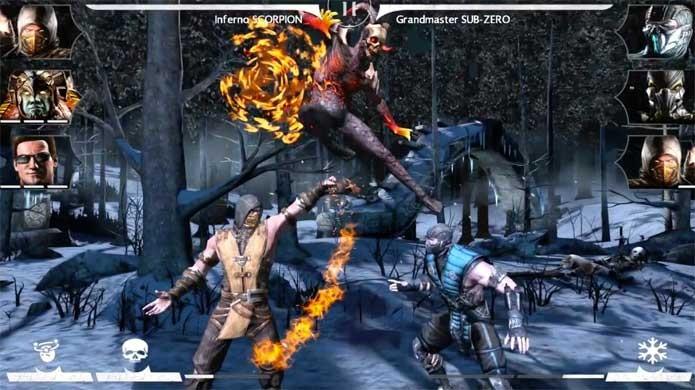 Mortal Kombat X na versão mobile (Foto: Divulgação/Warner)