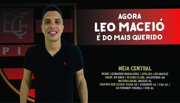 Léo Maceió, reforço do Flamengo-PI (Foto: Divulgação)