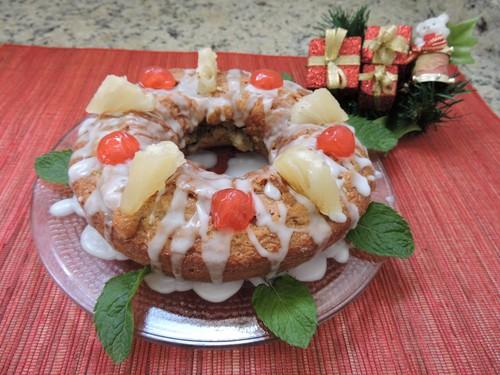 Para o Natal, prepare o bolo integral com abacaxi da ABIMA