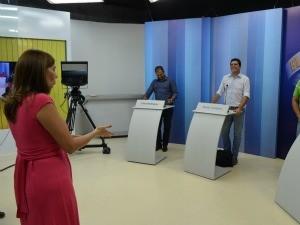 Mediadora Cristina Serra também participou do ensaio (Foto: Thiago José Cabral/TV Roraima)
