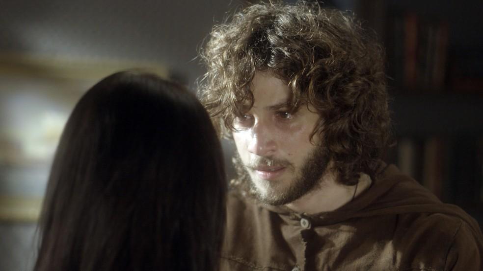 Joaquim diz que quer formar uma família com Anna, Quinzinho e Vitória (Foto: TV Globo)
