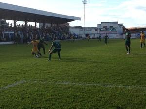 Interporto venceu o Gurupi no primeiro jogo das semifinais do Campeonato Tocantinense (Foto: Vilma Nascimento/GloboEsporte.com)