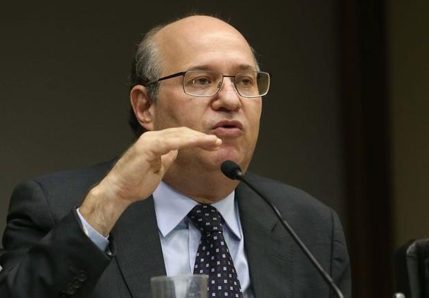 O presidente do Banco do Brasil, Ilan Goldfajn, durante coletiva sobre meta de inflação (Foto: Antonio Cruz/Agência Brasil)
