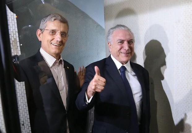 O presidente Michel Temer participa de jantar de apoio na casa do deputado Fábio Ramalho (Foto: Valter Campanato/Agência Brasil)