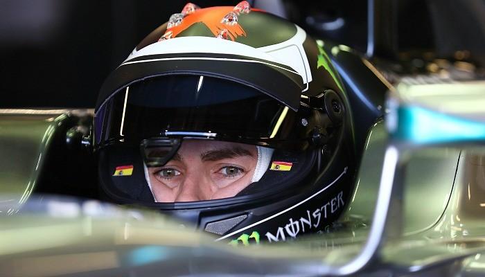 Jorge Lorenzo testa a Mercedes campeã de 2014