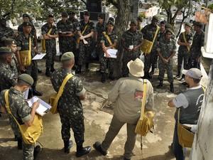 Militares do exército começam a atuar nesta segunda-feira (5) (Foto: Assessoria/Carlos Mendonça)