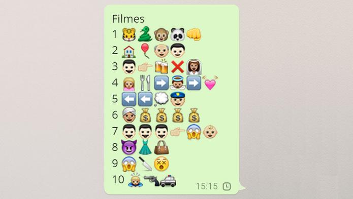 Emojis Filmes (Foto: Reprodução/Isabela Giantomaso)