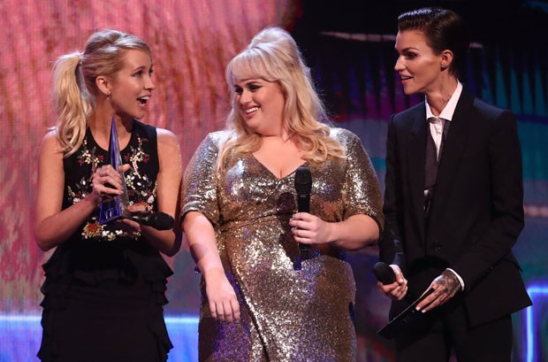 Anna Camp, Rebel Wilson e Ruby Rose (Foto: Getty Images)