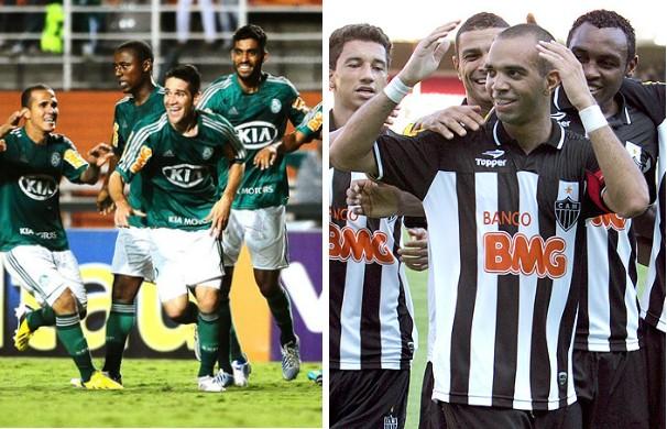 Palmeiras e Atlético-MG se enfrentam na Copa do Brasil. (Foto: Montagem / Globoesporte.com)