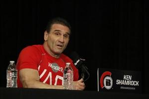 Ken Shamrock; coletiva; Bellator 149 (Foto: Evelyn Rodrigues)