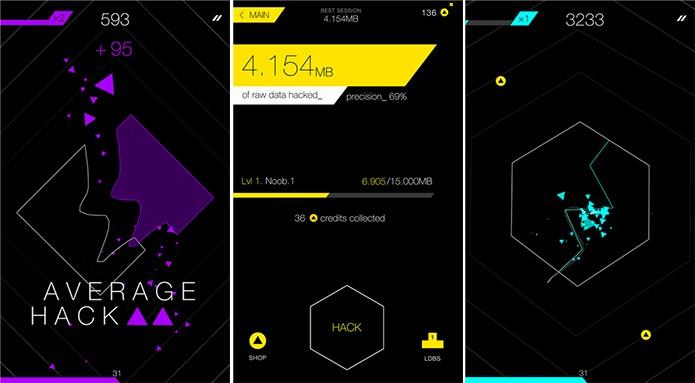 Cut and Hack é um game de repetição que exige precisão e velocidade ao usuário (Foto: Divulgação/Windows Phone Store)