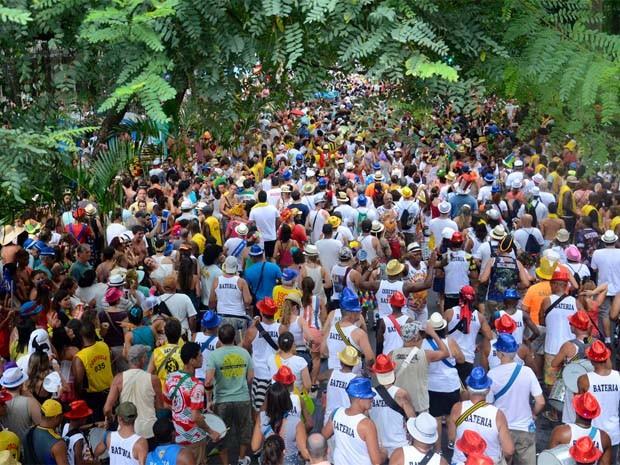 Foliões aproveitam o carnaval no Bloco de Segunda. (Foto: Alexandre Macieira/ Divulgação Riotur)
