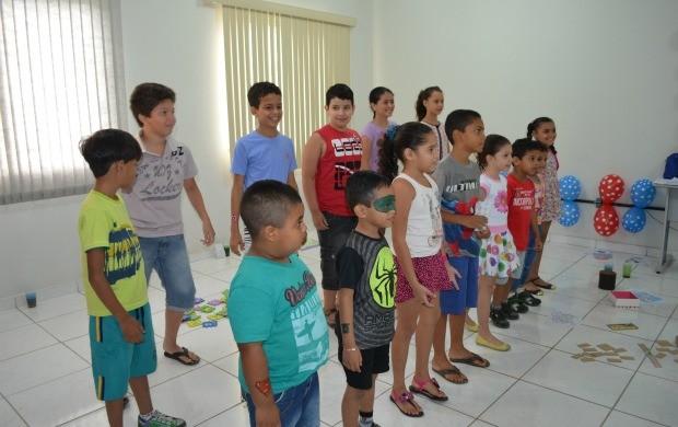 Brincadeiras e muita diversão fizeram parte da festinha (Foto: Bruna Alves/TV Roraima)