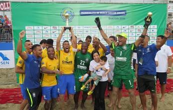 Brasil bate Itália e conquista o título do Mundialito de Futebol de Areia
