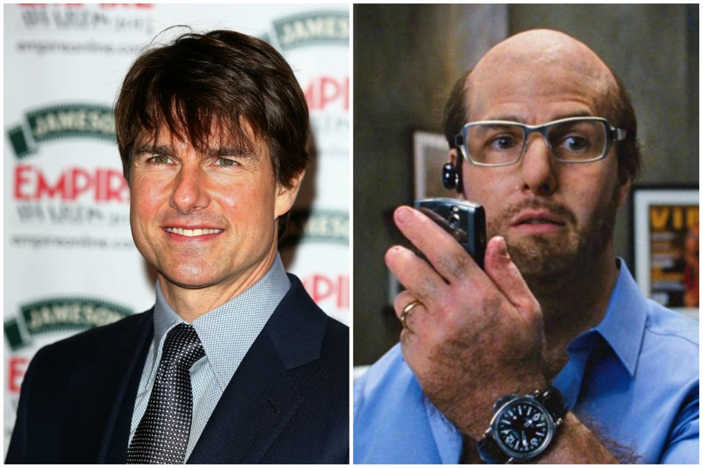 Tom Cruise em 'Trovão Tropical' (2008). (Foto: Getty Images e Reprodução)