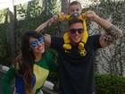 Jaque Khury arma torcida com a família para Copa do Mundo