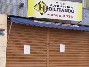 Autoescola Cabula Salvador, Bahia (Foto: Reprodução/ TV Bahia)
