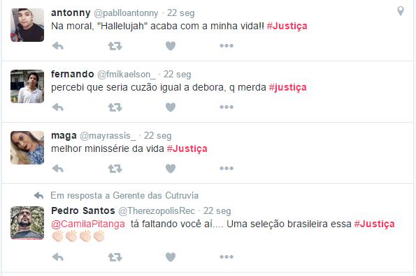 Justiça faz sucesso nas redes sociais (Foto: Reprodução/Twitter)