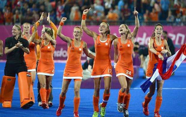 Holanda, Hoquei, Comemoração (Foto: Agência AFP)