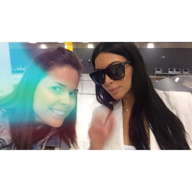 Kim Kardashian no Brasil (Foto: reprodução/instagram)