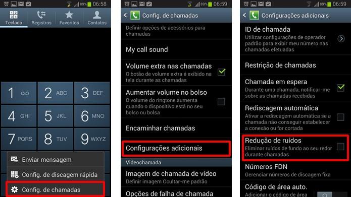 Desmarque a opção Redução de ruídos para evitar problemas no áudio durante as chamadas (Foto: Reprodução/Daniel Ribeiro)