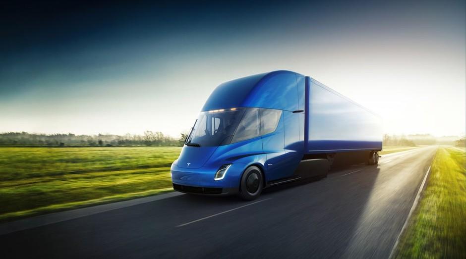 O Tesla Semi, caminhão elétrico e semi-autônomo da Tesla (Foto: Divulgação)