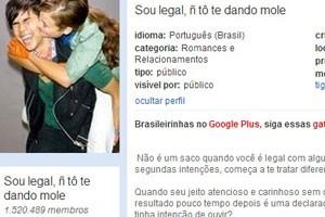"""Comunidade do Orkut """"Sou legal, ñ tô te dando mole"""". (Foto: Reprodução/Orkut.com)"""