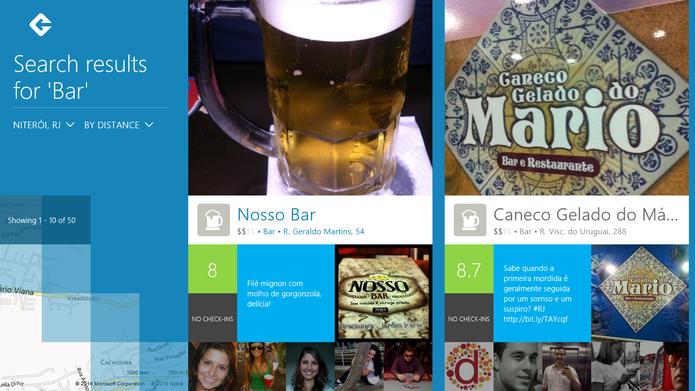 Foursquare indica locais de interesse para visitação na Copa do Mundo, incluindo avaliação dos clientes (Foto: Reprodução/Elson de Souza)