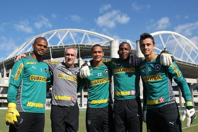 Jefferson, Renan, Flavio Tenius e Milton Raphael Botafogo (Foto: Satiro Sodré / SS Press / Botafogo)