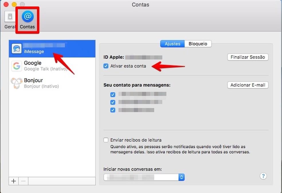 Desativando o iMessage no MacOS (Foto: Reprodução/Helito Bijora)